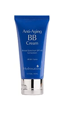 Hydroxatone Anti-Aging BB Cream with Broad Spectrum SPF 40, Tan Skin Tones | Firms, Moisturizes, Softens and Brightens the Skin | Reduces Lines and Wrinkles, 1.5 Fl Oz