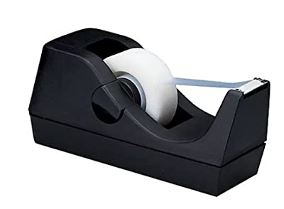 "1InTheOffice Desktop Tape Dispenser, Black""2 Pack"""