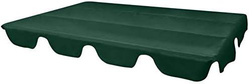 lyrlody- Toldo de Repuesto, Toldo Fundas para Balancines Techo Solar para Balancín Cubierta de Hamaca de Patio Jardín Exterior Verde, 226 x 186 cm: Amazon.es: Jardín