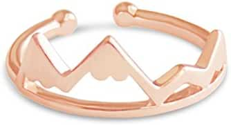 Mountain Ring for Outdoor Lovers, Hikers, Skiers, Snowboarders, Hiking Enthusiasts, Snow Mountain Lovers
