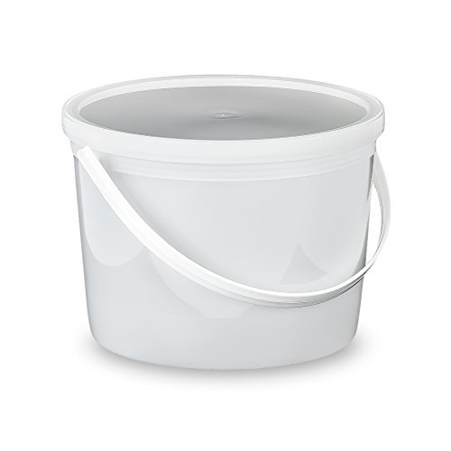 4B, L607 1/2 Gallon Buckets with Lids-10 Pack, 64 oz, Translucent ()