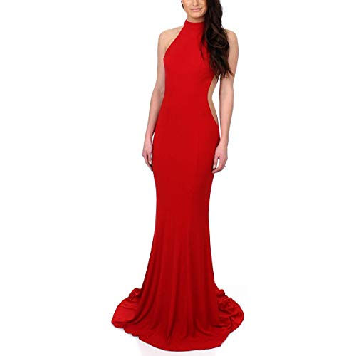 Faviana Womens Prom Halter Evening Dress Red 2