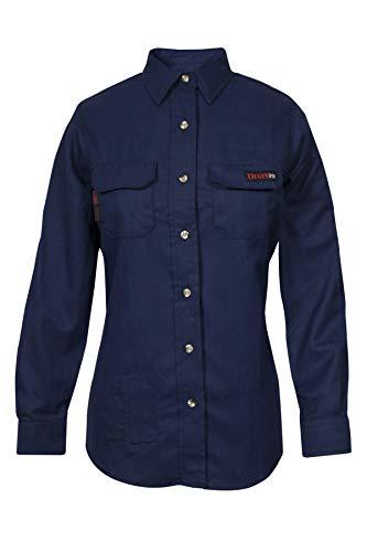National Safety Apparel TCGSSWN00116LGRG00 Women's Tecgen Select Fr Work Shirt, Large, Navy