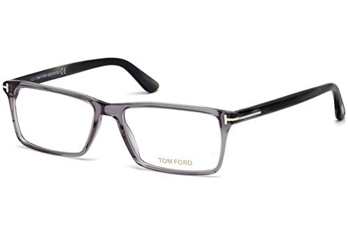 TOM FORD Men's TF 5408 020 Clear Gray Clear Rectangular Eyeglasses - Ford Tom Frames Clear