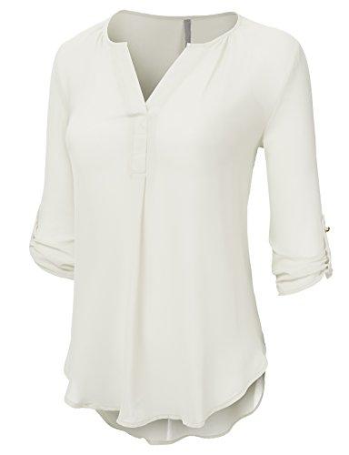 Ivory Blouse Shirt - 5