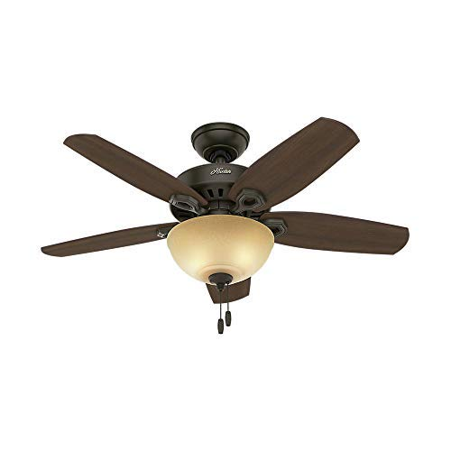 (Hunter Fan Company 52218 Builder Small Room New Bronze Ceiling Fan with Light, 42