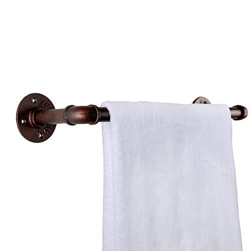GoYonder Industrial Pipe Towel Bar, Wall Mounted Bathroom Towel Rack for Storage Bar, Coat Rack & Kitchen Furniture/Farmhouse Decor-Bronze (Bronze, 18 inch)