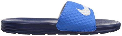 NIKE Herren Benassi Solarsoft Slide Sandale Foto blau / weiß / binär blau