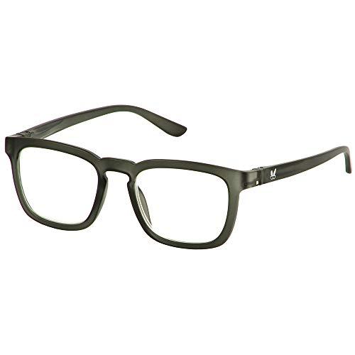 Bunny Eyez Harrison Wearable, Tilt-able, Flip-able Guyz Reading Glasses - Dark Gunmetal Matte (+2.50)