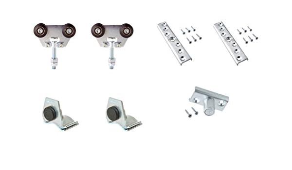 Estebro KC300 Kit de herraje para puerta corredera (hasta 300 kg con rodamientos en nylon): Amazon.es: Bricolaje y herramientas