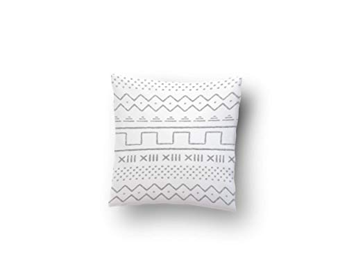 - Flannel Square Throw Pillow Case in Grey Woodland Geometric (Multiple Sizes Available)