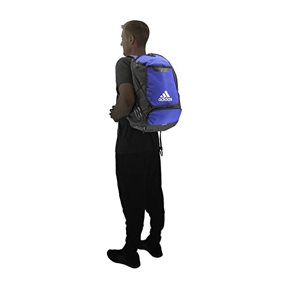adidas Stadium Team Backpack 7 Lifetime warranty - built to last. Front pocket is built with FreshPAK ventilation for your cleats and sneakers. Hydroshield water-resistant base, extra durable 3d ripstop fabric, and space for your team branding.