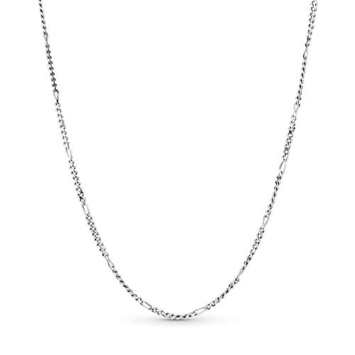 Pandora Jewelry - Classic Figaro Chain Charm Necklace in Sterling Silver, 27.6 IN / 70 CM
