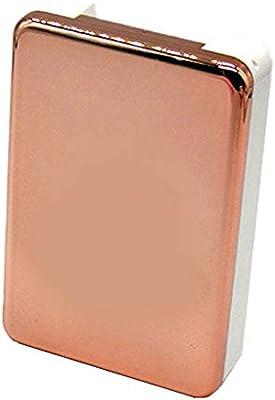JUNGEN Estuche de lentes de contacto rectangular con Diseño de espejo Caja de lentes de contacto de viaje con 2 Estuche de lentillas Pinza Aplicador Botella Espejo Incorporado (Oro rosa): Amazon.es: Salud