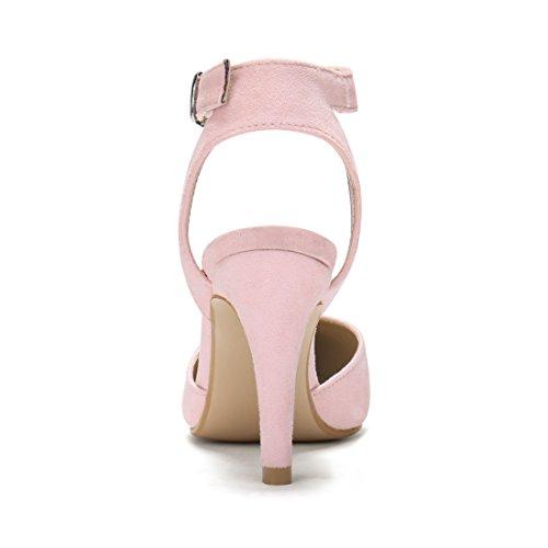 El Allegra De Para Tacón Rosa Pie Puntiagudo Tiras K Aguja Del Dedo Mujer Cierre Con Zapatos 8UEUw