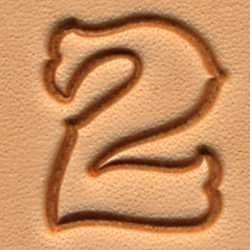Tandy Leather Craftool 3/4'' Standard Number Stamp Set 8135-00