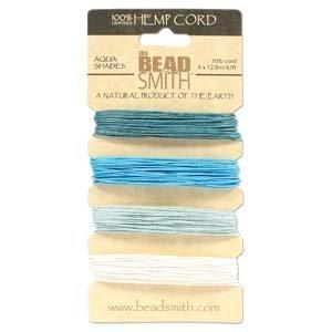 Amazon com: Hemp Twine Bead Cord  55mm - Aqua Colors App 42 Feet 42554