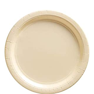 """Big Party Pack Vanilla Crème Paper Plates 