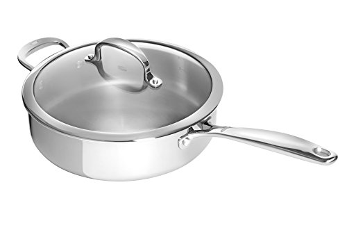 OXO Good Grips Tri-Ply Stainless Steel Pro 4QT Covered Skillet 4 Qt Stainless Covered Casserole