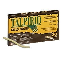 Talprid Mole Bait 5 Packs (20 worms) by Bell Labs