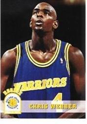 1993 Hoops Basketball Rookie Card (1993-94) #341 Chris Webber Near Mint/Mint -
