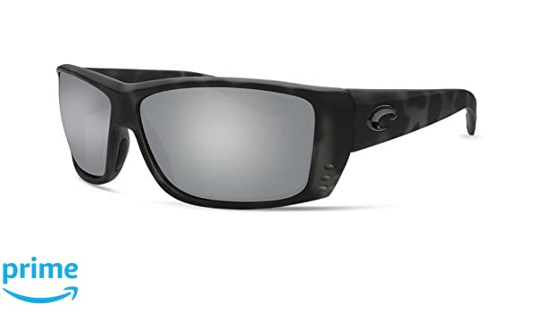 7cf5ae8239 Amazon.com  Costa Del Mar Cat Cay Sunglasses Ocearch Matte Tiger Shark Gray  Silver Mirror 580Glass  Sports   Outdoors