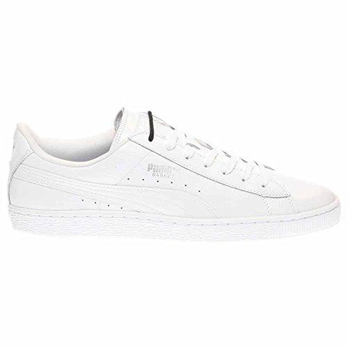 Fashion Men's High Ankle White Puma Croc Leather Silver Classic Sneaker L Basket PUMA 8xTHAH