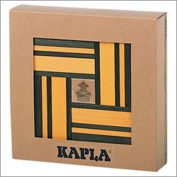 Kapla Double Set w/Book (Green & Yellow) (#KPG40)