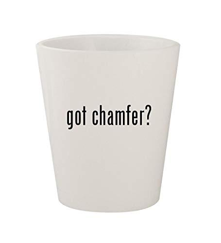 got chamfer? - Ceramic White 1.5oz Shot Glass