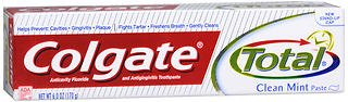 Colgate Total Fluoride Toothpaste - Clean Mint - Paste - Net Wt. 6 OZ (170 g) Per Tube) - Pack of 6 Tubes