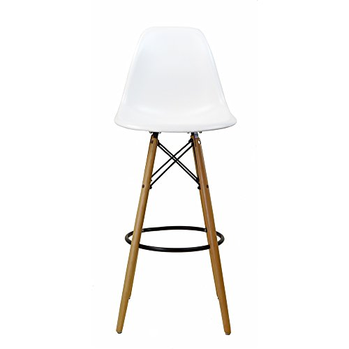 Design Tree Home Charles Eames-Style DSW Bar Stool, White Review