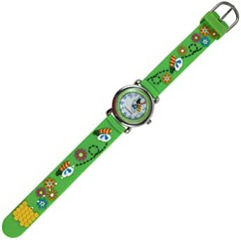 Geneva Kids Wristwatch, Honey Bee, In Gift Box, Green