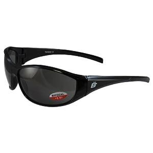 Birdz Eyewear Sparrow Riding Sunglasses (Black Frame/Smoke Lens)