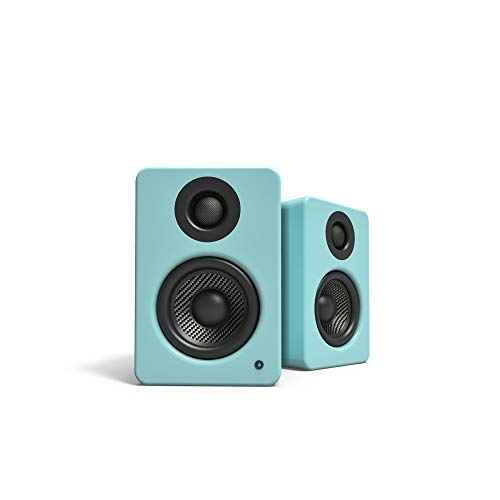 Kanto 2 Channel Powered PC Gaming Desktop Speakers - 3 Composite Drivers 3/4 Silk Dome Tweeter - Class D Amplifier - 100 Watts - Built-in USB DAC - Subwoofer Output - YU2GT (Gloss Teal)
