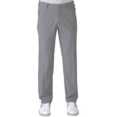 adidas 2017 Ultimate Tapered-Fit Pants Water-Resistant Mens Golf Flat Front Trousers Mid Grey 40x32
