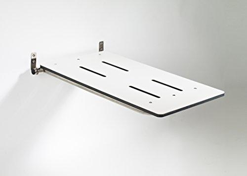 Mounted Tub Bar - Gbs-wall Mounted Folding Tub Seat in White Phenolic 32