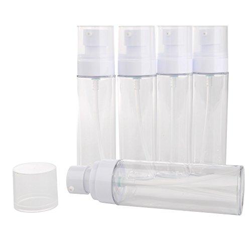 Pet Material (Z-COLOR 5pcs PET Material Transparent Small Sample Bottle Refillable Travel Plastic Container (80ml, Emulsion pump head))