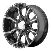 Helo HE901 20×9 Black Tint Wheel / Rim 6×5.5 with a 18mm Offset and a 106.25 Hub Bore. Partnumber HE90129068918