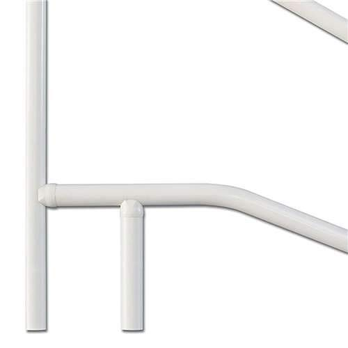 SAFTRON White 3 Bend Slope Swimming Pool and Spa Handrail - CBRTD-354-W