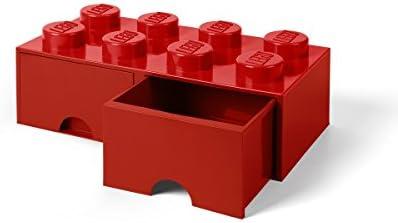 Room Copenhagen-40061730 Caja de Almacenaje Apilable, Ladrillo 8 pomos, 2 Cajones, 9.4 l, color rojo (red), 50 x 25 x 18 cm (Lego 40061730): Amazon.es: Juguetes y juegos