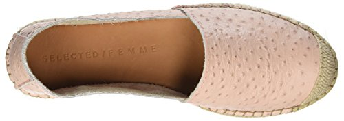 Selected Women's Sfmarley Ostrich Espadrilles, Pink Pink (Heavenly Pink Heavenly Pink)