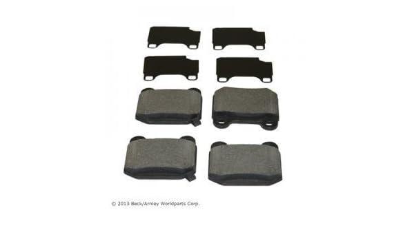 For 2003-2005 Subaru Impreza Front Rear eLine Plain Brake Rotors+Semi-Met Pads