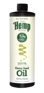Just Hemp Foods 100% Cold Pressed, Cold Filtered Hemp Seed Oil (6 x 16.9 fl.oz.)