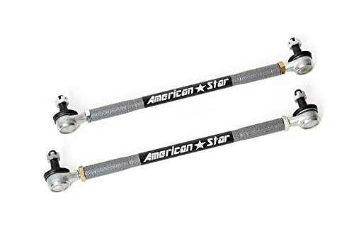 American Star 4130 Chromoly Steel ATV Tie Rod Upgrade KIt for Kawasaki KFX450R 08-14,Suzuki LT-Z400 09-14, Yamaha Grizzly 550 09-14, Grizzly 660 02-08 Grizzly 700 07-14, Grizzly 700 EPS 08-13 ()