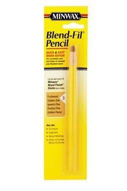 Wood Filler Pencil (Minwax Blend-Fil Pencil Carded No. 3 Fruitwood, Golden Oak, Golden Pecan, Ipswich Pine, Puritan Pine by Minwax)