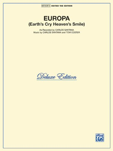 (Europa - Earth's Cry Heaven's Smile - Sheet Music - (Carlos Santana, Guitar/TAB/Vocal))