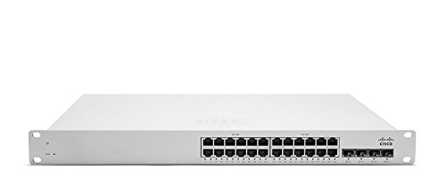 Cisco Meraki Cloud Managed Switch - MS220-24P (24-Port, POE, Requires Cloud Licensing) by Cisco