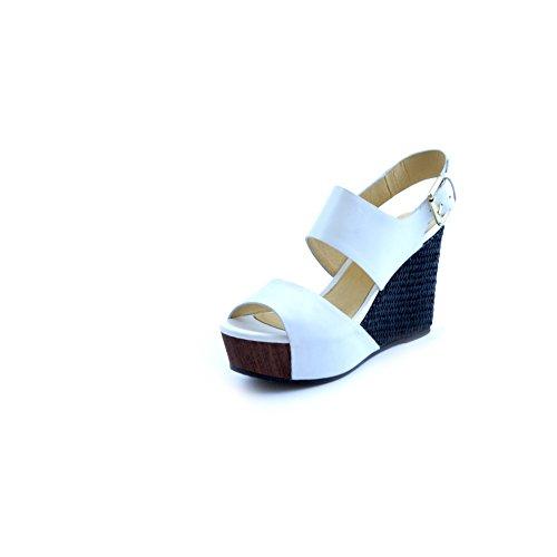 CafèNoir Women's Fashion Sandals white Bianco C26p1tVbTG