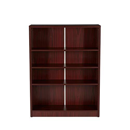 - Mahogany Adjustable 4 Shelf Bookcase Office Standing Storage Rack Shelves Organizer Home Bookshelf 36