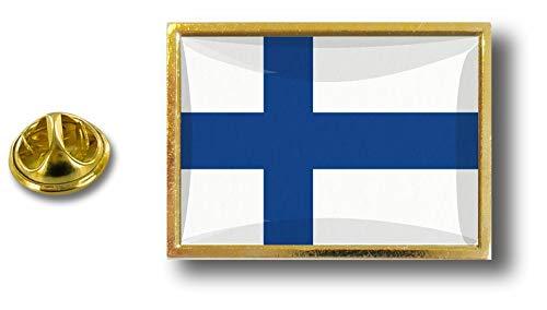 Akacha pins pin Badge pin's Metal avec Pince Papillon Drapeau Finlande finlandais P E1 064 Finlande